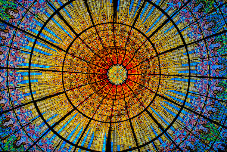 Concert Hall Lamp, Palau de la Música Catalana, Barcelona. Photo: Jean-Paul Navarro