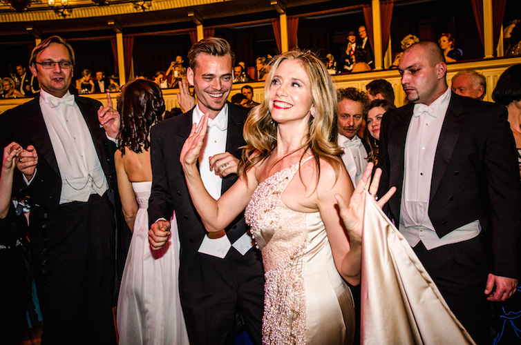Mira Sorvino at the Wiener Opernball, 2013