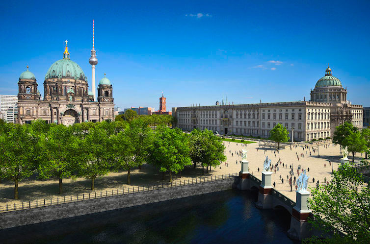 Virtual reconstruction of the City Palace of Berlin © Förderverein Berliner Schloss / eldaco, Berlin