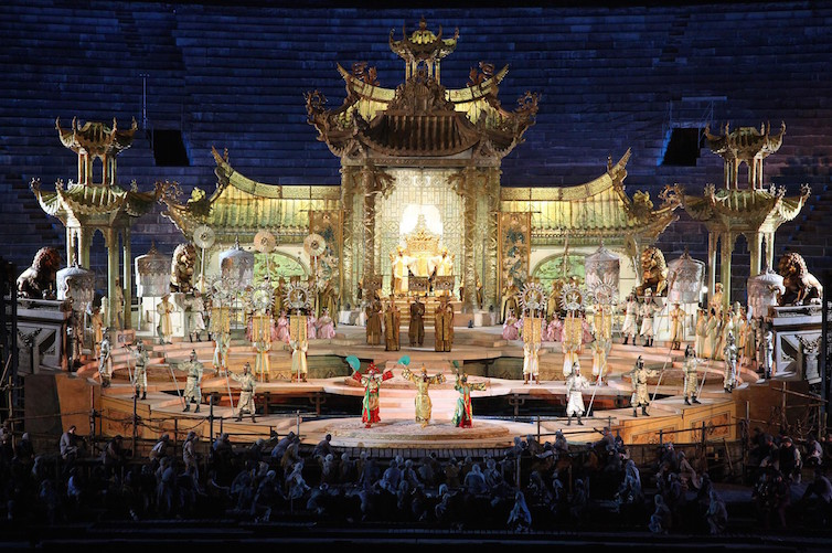 A performance of Turandot at the Arena di Verona © Fondazione Arena di Verona
